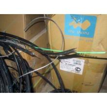 Оптический кабель Б/У для внешней прокладки (с металлическим тросом) в Электроуглях, оптокабель БУ (Электроугли)